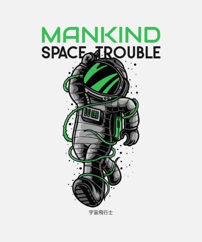 Sci-Fi T-Shirt Design Maker Featuring an Astronaut Illustration 234c-el1