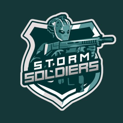 Logo Generator for a Gaming Squad Featuring Armed Characters 2898