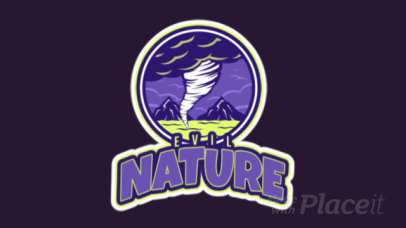 Animated Sport Logo Template Featuring a Tornado Clipart 523z-2892