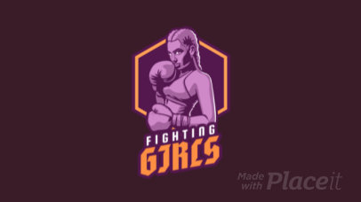 Gaming Logo Maker for an eSports Team Featuring an Animated Female Boxer Graphic 1747dd-2892