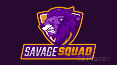 Animated Logo Maker for a Gaming Squad with an Angry Lion Clipart 2704l-2888