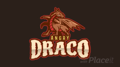 Animated Logo Template for Gamers Featuring a Fierce Dragon Illustration 2689l-2883