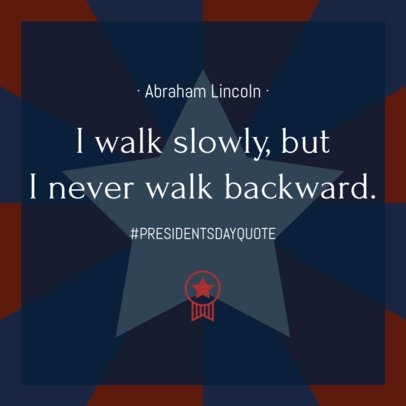 Instagram Post Template with an Abraham Lincoln Quote 2201a