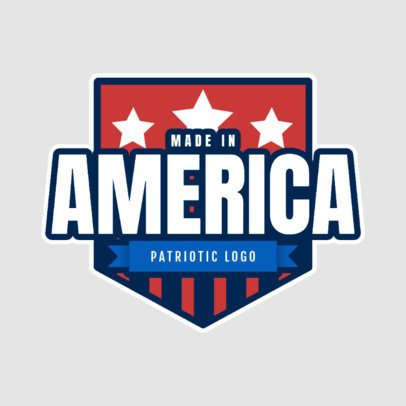 Patriotic Logo Template Featuring an American Badge Graphic 2868d