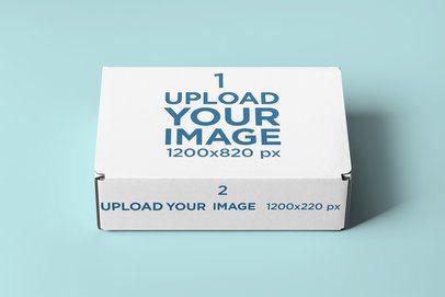 Mockup of a Mailing Box Placed on a Minimalistic Setting 2570-el1