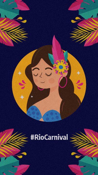 Instagram Story Generator Featuring Brazilian Carnival Illustrations 2213b