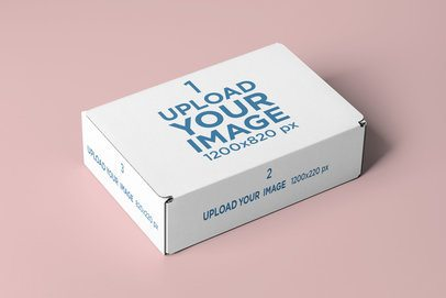 Mailing Box Mockup Featuring a Solid Color Backdrop 2571-el1
