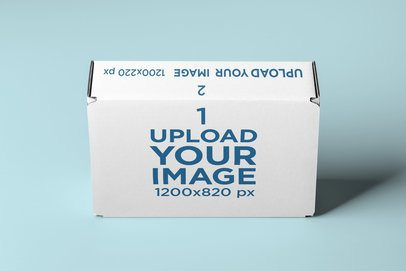 Mockup of a Standing Packaging Box 2573-el1