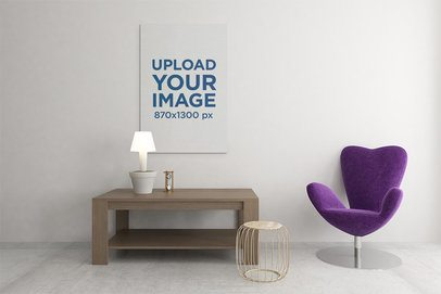 Canvas Mockup Featuring a Minimalistic Setting 2506-el1
