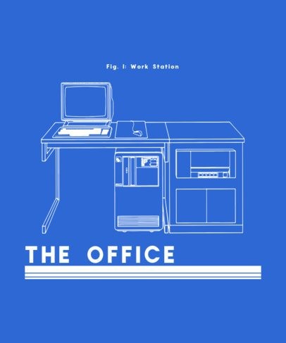 Retro T-Shirt Design Generator with an Office Desk Graphic 245c-el1