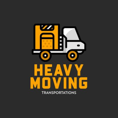 Moving Company Logo Maker with a Simple Truck Icon 693a-el1
