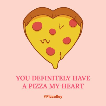 Facebook Post Generator Featuring a Heart-Shaped Pizza Illustration 2210b