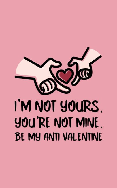 Funny Anti-Valentine's T-Shirt Design Generator For Single People 703b-el1