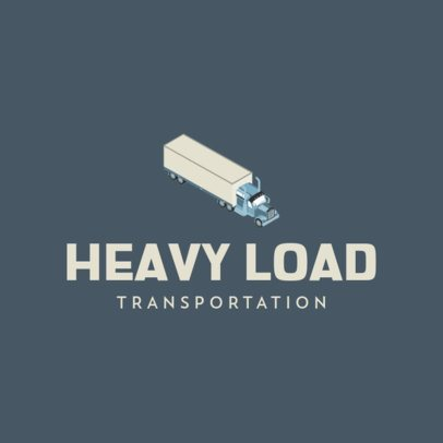 Logo Maker for a Heavy Load Transportation Company 694c-el1