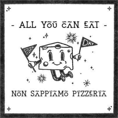 Instagram Post Creator for Pizza Day with a Happy Cheese Graphic 2205b