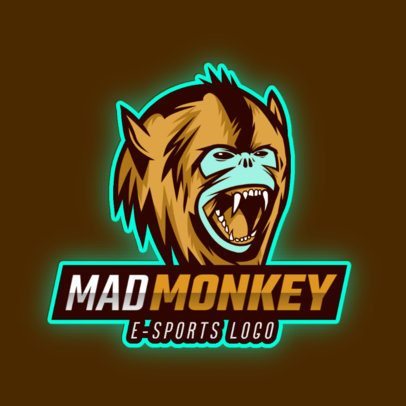 Gaming Logo Template with a Tough-Looking Monkey 2903e