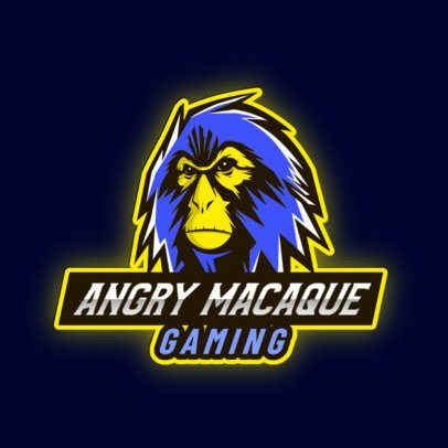 Logo Creator for a Gaming Team with an Angry Macaque 2903f