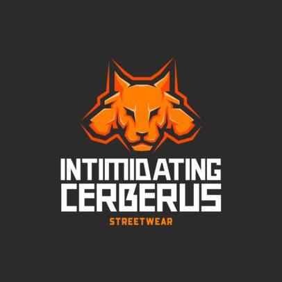 Streetwear Logo Generator with an Intimidating Cerberus Icon 699c-el1