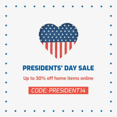 Facebook Post Maker for a President's Day Online Sale 2204d