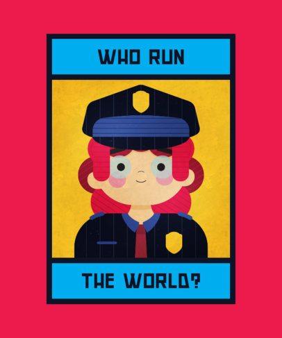 T-Shirt Design Maker with a Police Officer Illustration 2193a