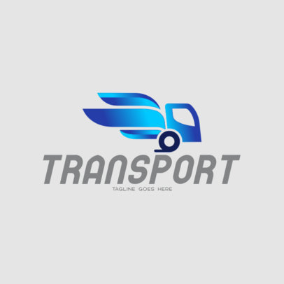 Modern Logo Template for a Transportation Service 696a