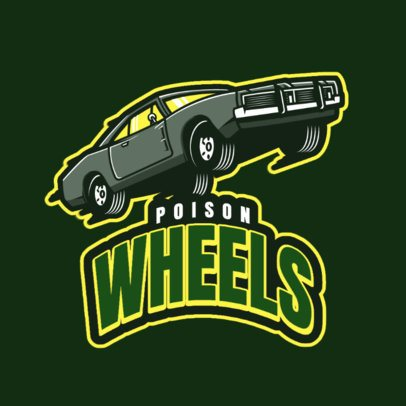 GTA-Inspired Logo Maker Featuring a Lowrider Car Illustration 1745k-2935
