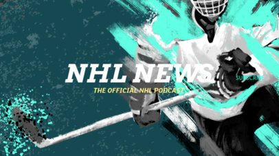 Youtube Banner Maker for a Sports-Reviewing Channel with Hockey Players 2216c