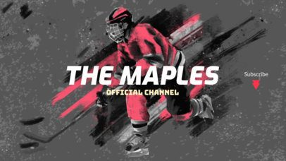 Sports Channel Youtube Banner Template for Hockey Fans 2216b
