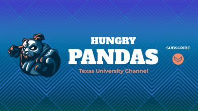 Sports-Themed YouTube Banner Maker with a Panda Icon 2215a