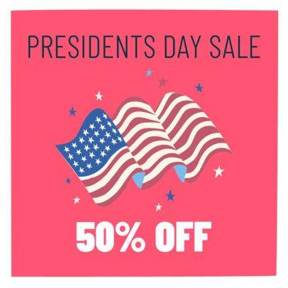 Instagram Post Maker for a President's Day Promo 2200c