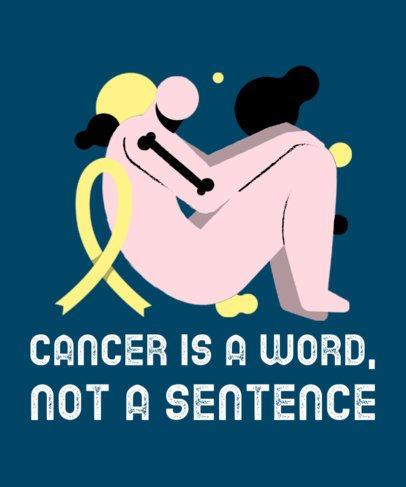 T-Shirt Design Generator Featuring a Bone Cancer Awareness Illustration 2164j