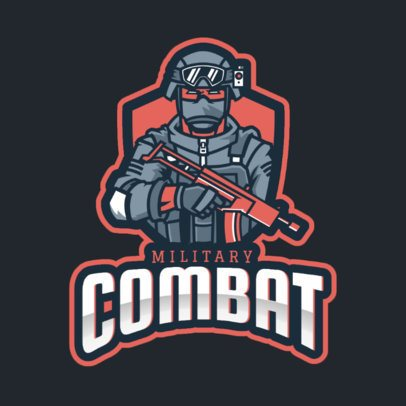 Gaming Logo Template Featuring a Military Shooter 2663s-2930