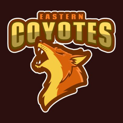 Sports Logo Creator Featuring a Coyote Howling 120oo-2937