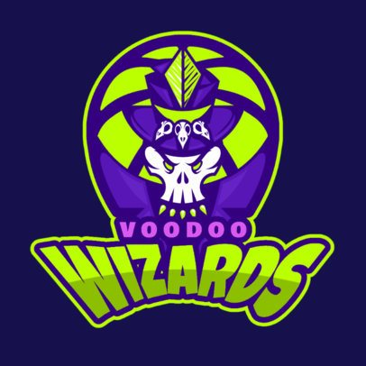 Sports Logo Maker With a Voodoo-Themed Illustration 336t-2933