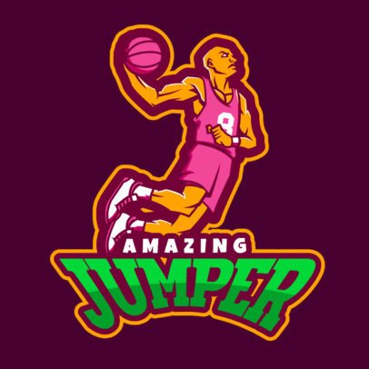 Basketball Logo Maker with a Player Doing a Slam Dunk a336s-2933