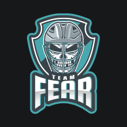 Gaming Logo Creator with a Deadly Hockey Player 1560m-2937