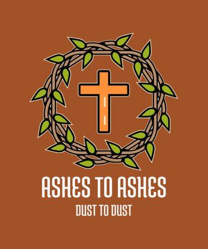 Easter T-Shirt Design Maker Featuring a Christian Cross Clipart 2224f