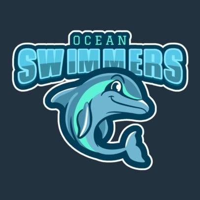 Sports Team Logo Maker Featuring a Happy Dolphin 120qq-2937