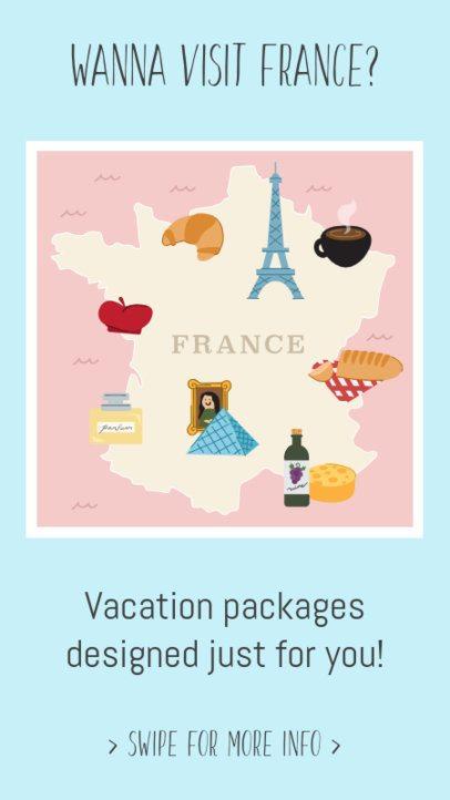 Instagram Story Maker Inviting to Visit France 2233d