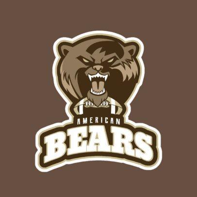 Football Logo Creator with a Ferocious Bear Graphic 245bb-2937