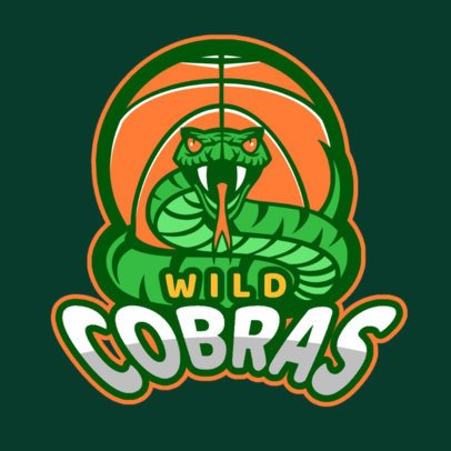 Sports Logo Maker for a Basketball Team with a Cobra Graphic a336x-2936