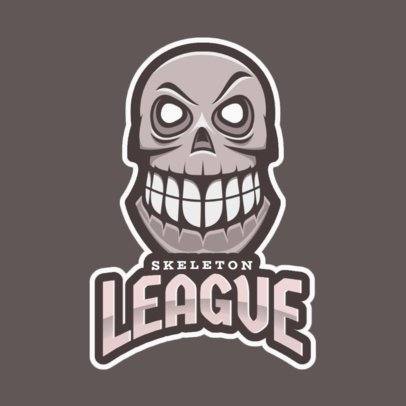 Gaming Logo Maker Featuring a Smiling Skull Graphic 2620r-2935
