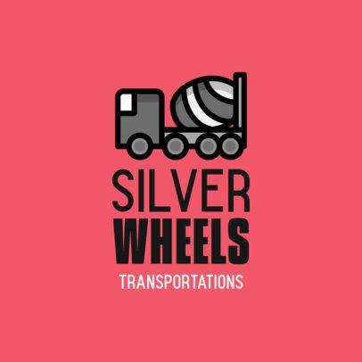 Logo Creator with a Cement Mixer Truck Icon 755c-el1