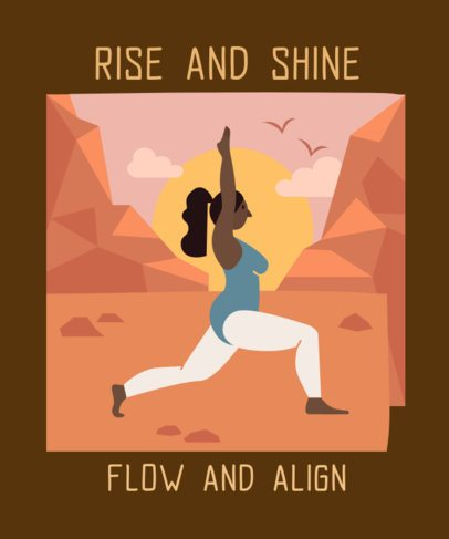 T-Shirt Design Creator Featuring a Woman Doing Yoga in Nature 2229i