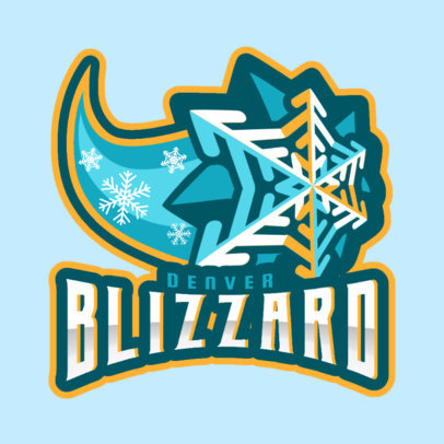 Hockey Logo Maker with a Comet-Like Snowflake Graphic 1560k-2930