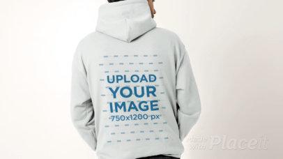 Hoodie Video of a Man Facing Backwards 32032