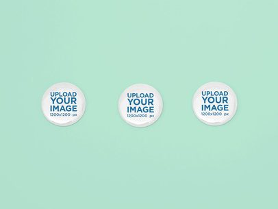 Mockup of Three Buttons Placed Next to Each Other 31877