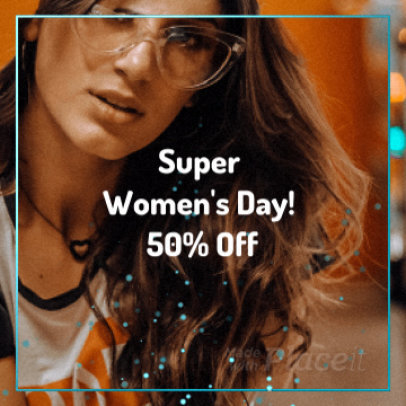 Instagram Video Maker for a Women's Day Offer 1786a-165