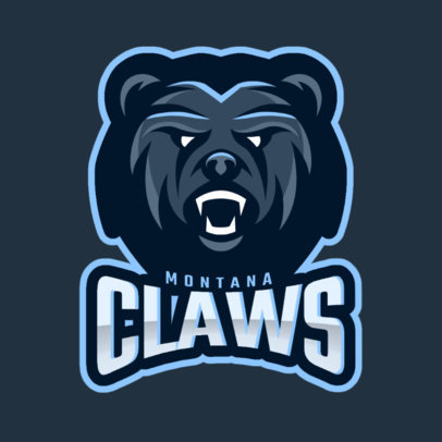 Sports Logo Generator With a Roaring Bear Graphic 1560m-2934
