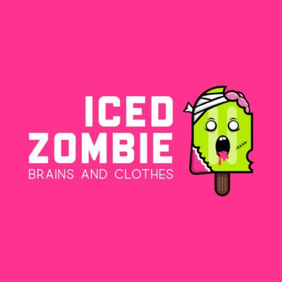 Logo Maker for a Streetwear Brand Featuring a Zombie Popsicle 252b-el1